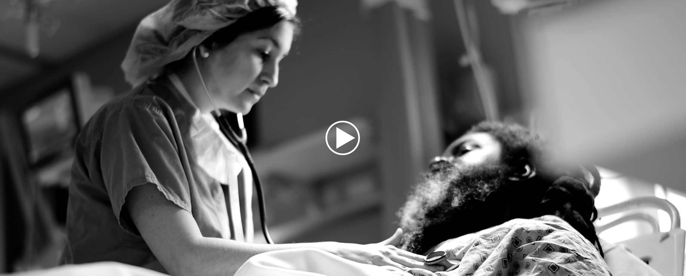 Video Frame of a Nurse taking care of a patient