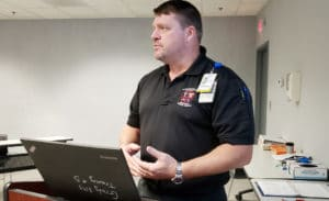 Instructor Keith Blalock takes the lead on the veterans program.